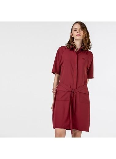 Lacoste Kadın Kısa Kollu Elbise EF0114.14R Bordo